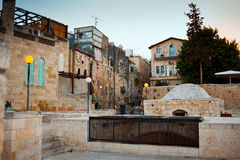 Jerusalem street and roofs in the old city. Israel Royalty Free Stock Photography