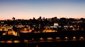 Jerusalem - sunset timelapse stock footage