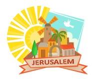 Jerusalem symbol Royaltyfria Bilder