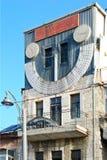 jerusalem Synagoga 'klockatorn ', sundial Ekgrodd i kruka arkivfoto