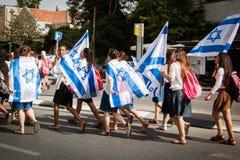Jerusalem-Tagesparade in Jerusalem Lizenzfreies Stockfoto