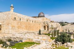 Jerusalem temple - David`s city royalty free stock images