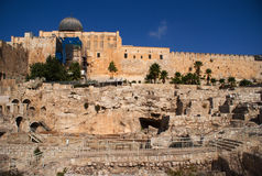 Jerusalem temple mount panorama Stock Photography