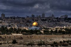 Jerusalem temple mount panorama Royalty Free Stock Photos
