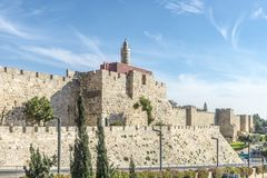 JERUSALEM The Main Gates And Fortress Walls Of The Old City Stock Photography