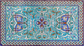 Jerusalem -  The tiled decoration in vestibule of St. James Armenian cathedral from end of 19. cent. Stock Photos