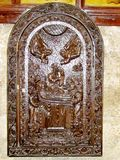 Jerusalem Tomb of the Virgin bas relief 2012 Royalty Free Stock Image