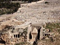 jerusalem tombzechariah 2008 Royaltyfri Fotografi