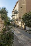 JERUSALEM Tourist places in the city center. Central streets. And old walls Royalty Free Stock Photography