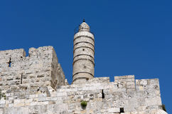 Jerusalem, tower of David Stock Image