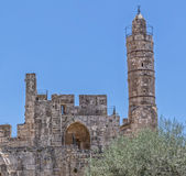 Jerusalem Tower of David Minaret Royalty Free Stock Photos