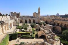 Jerusalem, Tower of David Stock Photos