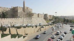 Jerusalem trafik stock video