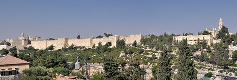 Jerusalem ummauert Panorama, Israel Lizenzfreies Stockfoto