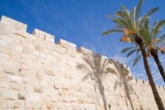 jerusalem väggar Royaltyfri Foto