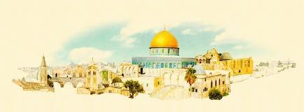 Jerusalem stock illustration