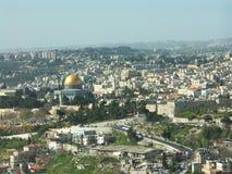 Jerusalem view. A view to Jerusalem old city and east jerusalem Royalty Free Stock Photos