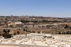 Jerusalem View With Cemetery Royalty Free Stock Image