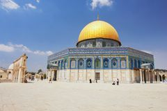 Jerusalem. View of Dome of the rock in Jerusalem, Israel Stock Photos