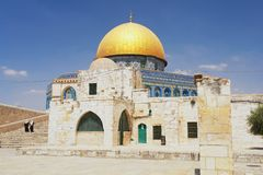 Jerusalem. View of Dome of the rock in Jerusalem, Israel Royalty Free Stock Photos
