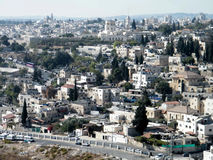 Jerusalem view of the houses and churches from Mount Scopus 2010 Royalty Free Stock Image