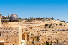 Jerusalem - View on the Mount of Olives Stock Photo