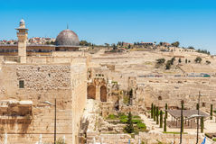 Jerusalem - View on the Mount of Olives Stock Photos