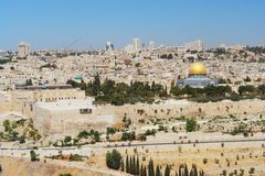 Jerusalem. View from mount of olives to Jerusalem, Israel Stock Photo