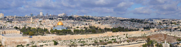 Jerusalem. View of the Old City from the Mount of Olives in Jerusalem, Israel Stock Photos