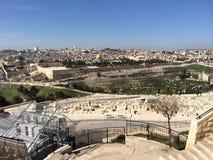 Jerusalem von der Montierung der Oliven Stockbilder