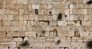 Jerusalem wailing wall - closeup Stock Images