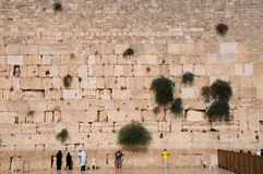 The Jerusalem wailing wall Royalty Free Stock Images