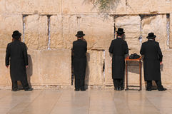 The Jerusalem wailing wall. JERUSALEM -July 27 : Jews prays at the Western Wall July 27 , 2012 in Jerusalem, Israel Royalty Free Stock Photo