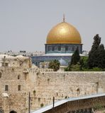 Jerusalem wailing wall and temple mount. Very large image Stock Photography
