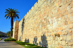 Jerusalem wall and Al-Aqsa Mosque Royalty Free Stock Images