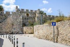 Jerusalem wall and Jaffa Gate Royalty Free Stock Photos