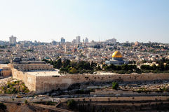 Jerusalem wall of the old city Royalty Free Stock Photo