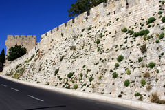 Jerusalem walls Royalty Free Stock Image