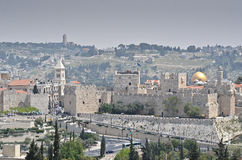 Jerusalem walls Stock Photography
