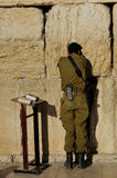 Jerusalem, the Western Wall, Jew, soldier Royalty Free Stock Photography