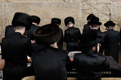 Jerusalem, the Western Wall, jew, ultra-orthodox Stock Photos