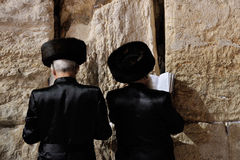 Jerusalem, the Western Wall, jew, ultra-orthodox Royalty Free Stock Photo