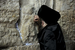 Jerusalem, the Western Wall, Jew, ultra-orthodox Stock Image