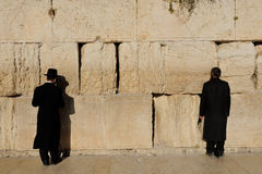 Jerusalem, the Western Wall, Jew, ultra-orthodox Royalty Free Stock Photos