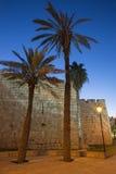Jerusalem - Westteil der Stadtmauern Stockbild