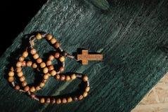 Jerusalem wooden rosary beads Stock Image