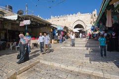 jerusalem wysuszone ulicy bieliźniane czyste uliczne Zdjęcia Stock