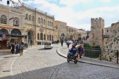 jerusalem wysuszone ulicy bieliźniane czyste uliczne zdjęcie royalty free