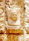 Jerusalem Yad Vashem Bas Relief 2007 Arkivbilder