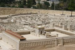 Jerusalem, zweiter Tempel Stockbild